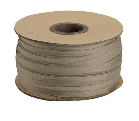 No.3 Beige Continuous Zipping – 1 metre