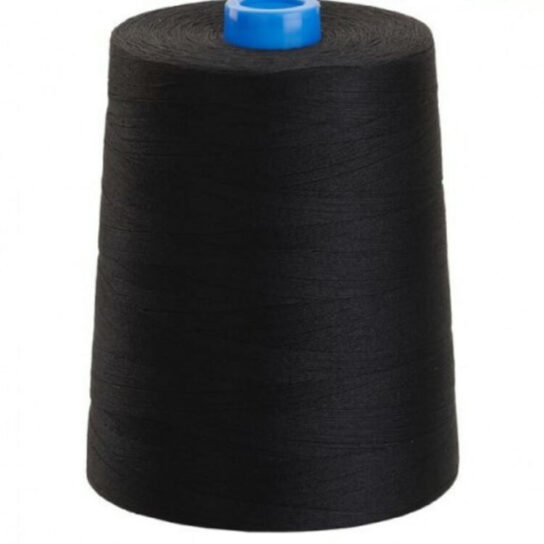 black sewing thread