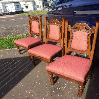 Antique Dining Chairs Re-Upholstered
