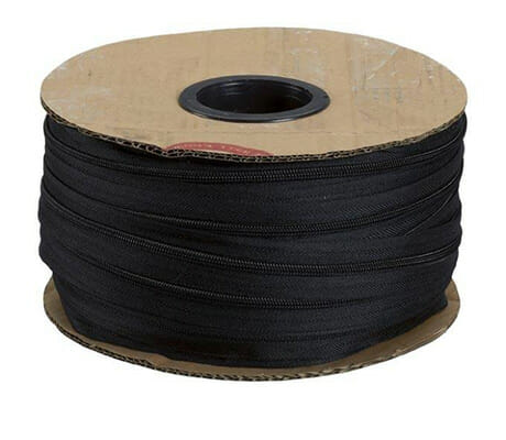 No.3 Black Continuous Zipping – 1 metre