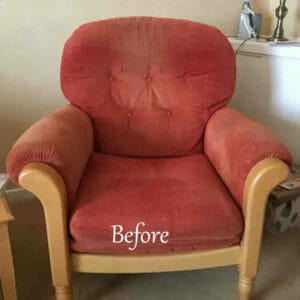 Cintique Chair Reupholstered before