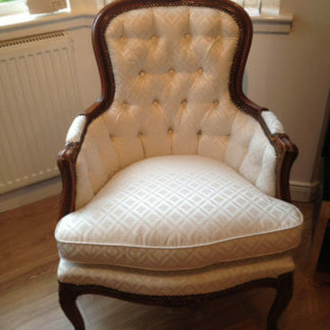cream antique chair