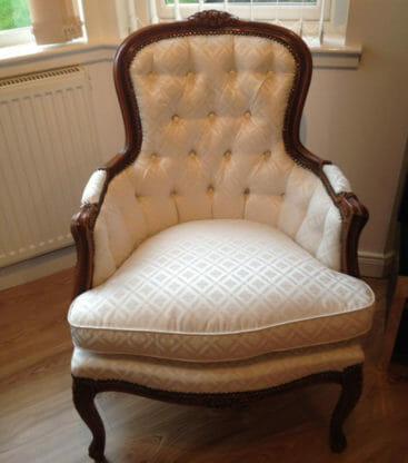 cream antique chair
