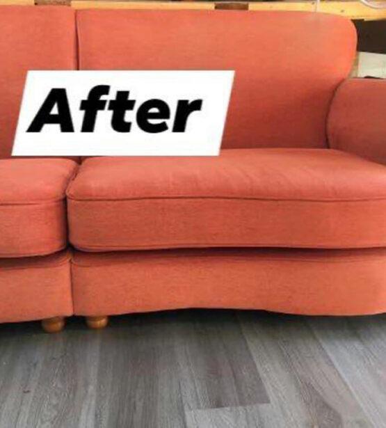 sofa after new foam cushions
