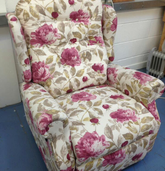 recliner chair in print