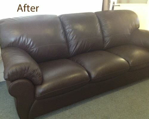 leather sofa new foam cushions