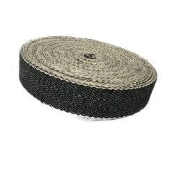 black and white herringbone webbing