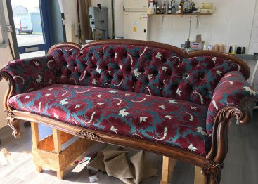 antique sofa recovered