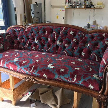 antique sofa recovered