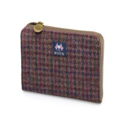 Bronte by Moon Burgundy Dogstooth pattern purse